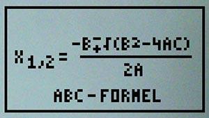 Bild für `ABC - Formel`