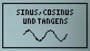 Bild für `Sinus, Cosinus und Tangens`