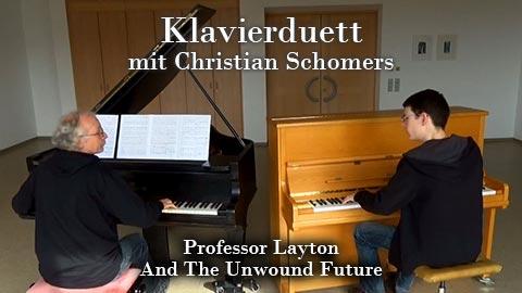 Klavierduett mit Christian Schomers zum Thema des dritten Professor Layton - Spieles