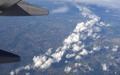 As if it would have been the first time for me to fly, I was fascinated by the cloud formations.
