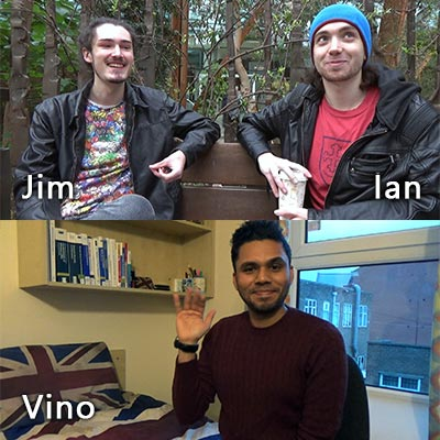 On my last day, I had a double interview with Ian and Jim first, then I visited Vino!