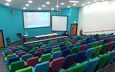 A big and very modern lecture hall of Hallam University.