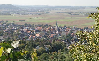 "A great view on my village named ""Entringen"", taken by my mother."