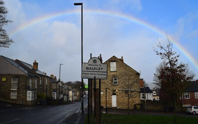 Somehow, I understood it as a sign that there appeared a rainbow on my last day in Sheffield! I'm now back in Germany.